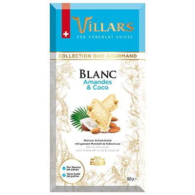 Villars Weisse Schokolade mit Mandel & Kokos