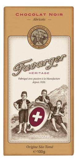 Favarger Héritage - Zartbitterschokolade mit Aprikosen
