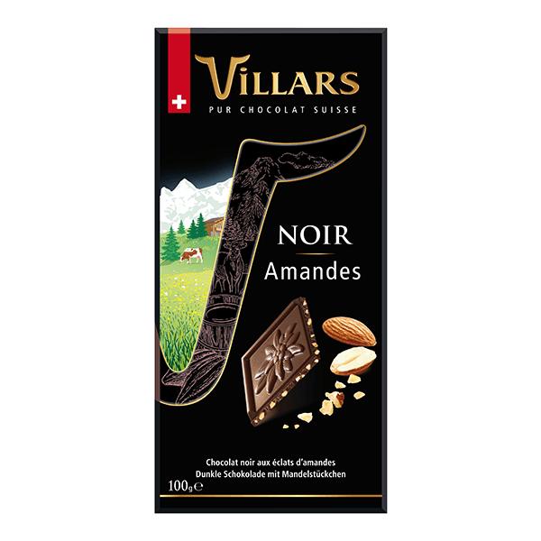Villars Zartbitterschokolade mit Mandelstückchen