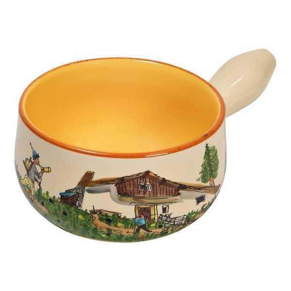 Rheinfelder Keramik Caquelon Maiensäss 100% handgefertigt