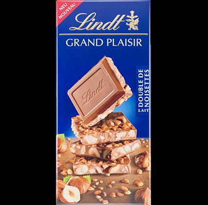 Lindt Grand Plaisir Double Noisettes Lait