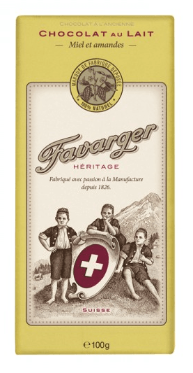 Favarger Héritage - Milchschokolade mit Honig und Mandeln