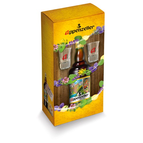 Appenzeller Alpenbitter in der Geschenkverpackung