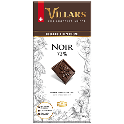 Villars Zartbitterschokolade Noir 72%