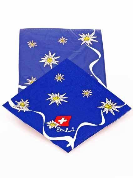 Servietten Edelweiss blau