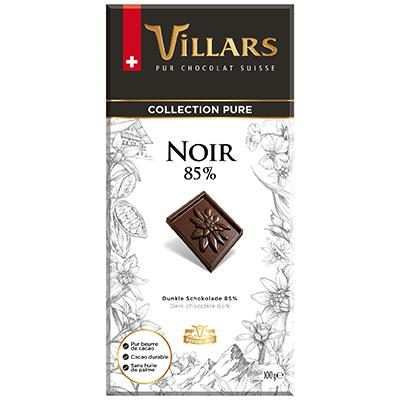 Villars Dunkle Schokolade Noir 85%