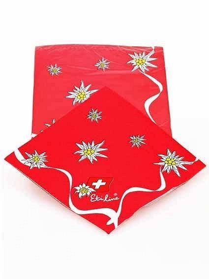 Papierservietten Edelweiss rot