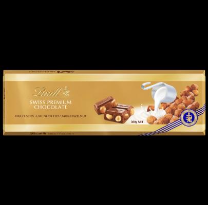 Lindt Milch-Nuss Schokolade 300g Tafel