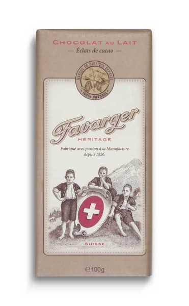 Favarger Héritage - Milchschokolade mit Kakaobruch