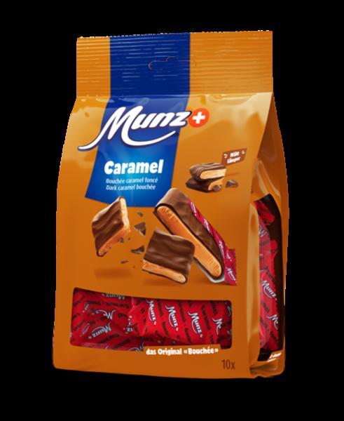 Munz Caramel Bouchée dunkle Schokolade