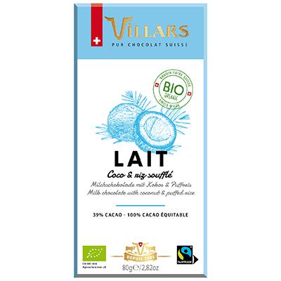 Villars Milchschokolade mit Kokos & Puffreis
