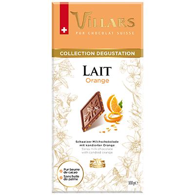 Villars Milchschokolade mit kandierten Orangenschalen