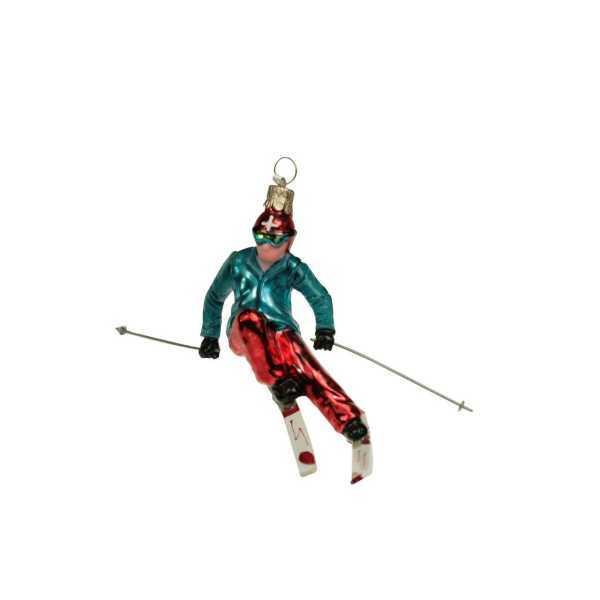 Weihnachtsschmuck Skifahrer