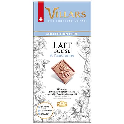Villars Milchschokolade Pur Traditionelle Rezeptur
