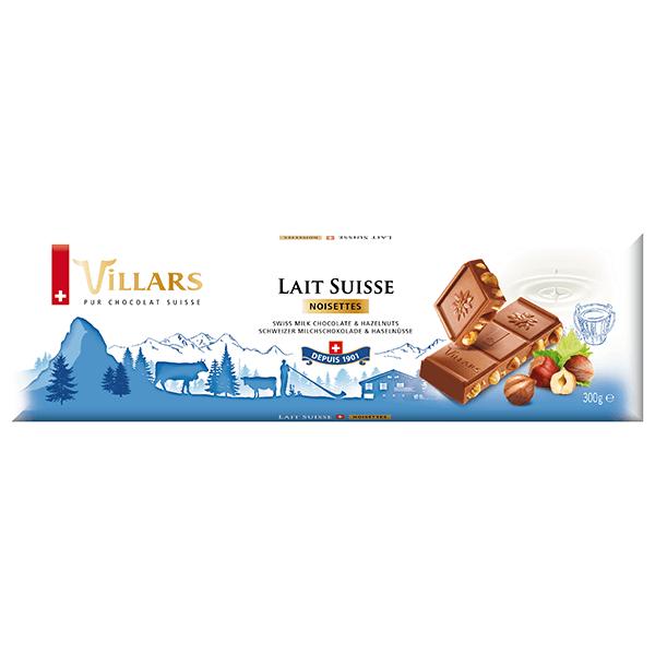 Villars Milchschokolade mit ganzen Haselnüssen