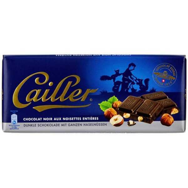 Cailler dunkle Schokolade mit Nüssen