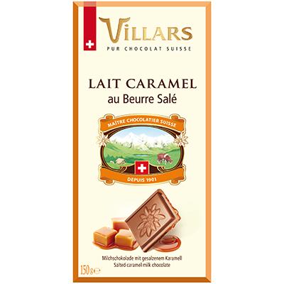 Villars Milchschokolade mit gesalzenem Karamell Butter
