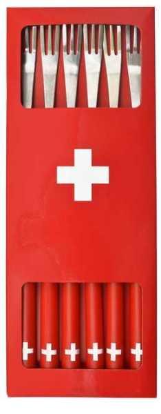 Fonduegabeln Schweiz (6 Stück)