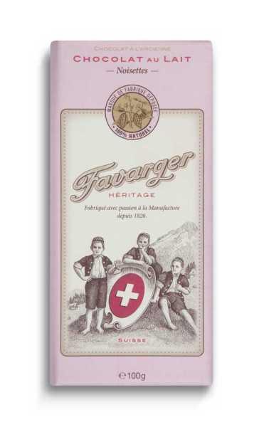 Favarger Héritage - Milch-Haselnuss Schokolade