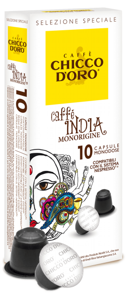 Chicco d'Oro Cafe India Monorigine Kapseln (Nespresso* kompatibel)