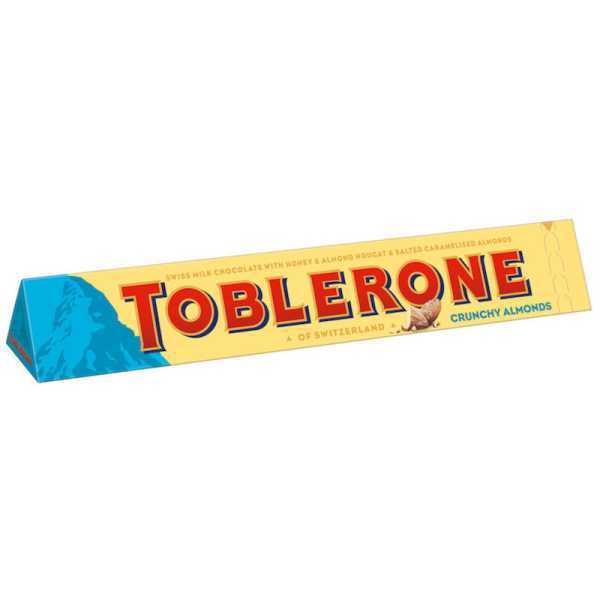 Schweizer Toblerone blau Crunchy Almonds
