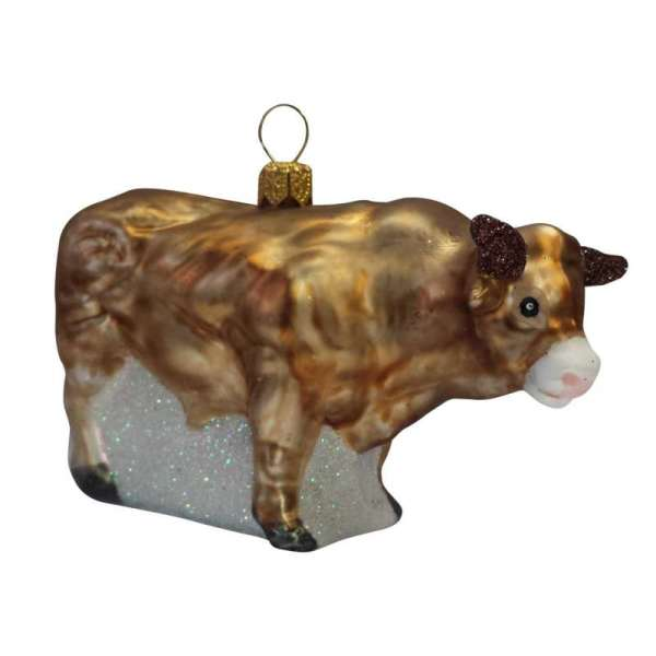 Weihnachtsschmuck Stier mit Hörner