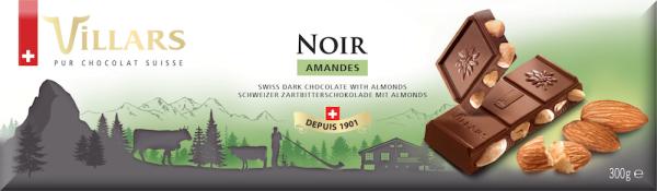 Villars Zartbitterschokolade mit Mandeln