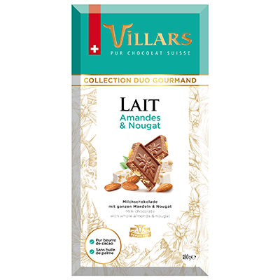 Villars Milchschokolade Mandeln Nougat